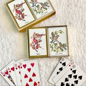 Vintage Congress Birds Playing Cards